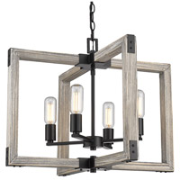 Lowell 4 Light 24 inch Black Chandelier Ceiling Light