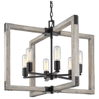 Lowell 6 Light 27 inch Black Chandelier Ceiling Light