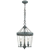 Ferris 3 Light 14 inch Blue Verde Patina Chandelier Ceiling Light