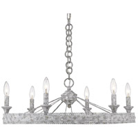 Golden Lighting 7856-6-OY Ferris 6 Light 27 inch Oyster Chandelier Ceiling Light Low Profile