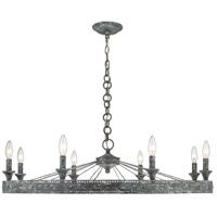 Ferris 8 Light 36 inch Blue Verde Patina Chandelier Ceiling Light