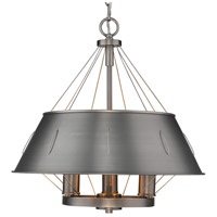 Whitaker 3 Light 18 inch Aged Steel Pendant Ceiling Light