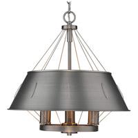 Golden Lighting 7917-3P-AS Whitaker 3 Light 18 inch Aged Steel Pendant Ceiling Light