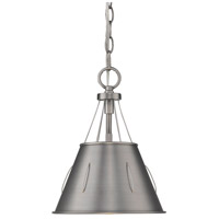 Whitaker 1 Light 9 inch Aged Steel Mini Pendant Ceiling Light