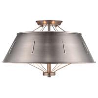 Golden Lighting 7917-SF-AS Whitaker 4 Light 18 inch Aged Steel Semi-Flush Ceiling Light