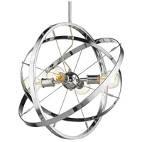 Golden Lighting 7936-4-CH-CH-CH Atom 4 Light 22 inch Chrome Chandelier Ceiling Light