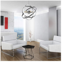 Golden Lighting 7936-6-CH-BS-BS Atom 6 Light 28 inch Chrome and Brushed Steel Chandelier Ceiling Light alternative photo thumbnail