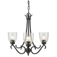 Parrish 3 Light 22 inch Black Chandelier Ceiling Light
