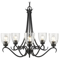 Parrish 5 Light 27 inch Black Chandelier Ceiling Light