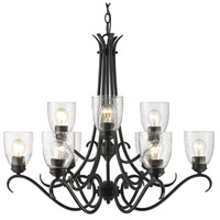 Parrish 9 Light 31 inch Black Chandelier Ceiling Light