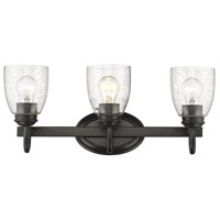 Parrish 3 Light 21 inch Black Bath Vanity Wall Light