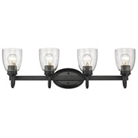 Parrish 4 Light 26 inch Black Bath Vanity Wall Light