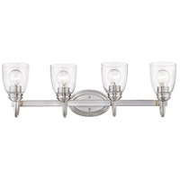 Golden Lighting 8001-BA4-PW-SD Parrish 4 Light 29 inch Pewter Bath Vanity Light Wall Light