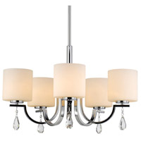 Evette 5 Light 26 inch Chrome Chandelier Ceiling Light