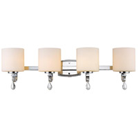 Evette 4 Light 32 inch Chrome Bath Vanity Wall Light