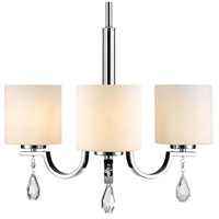Golden Lighting 8037-M3-CH-OP Evette 3 Light 22 inch Chrome Mini Chandelier Ceiling Light