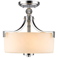 Golden Lighting 8037-SF-CH-OP Evette 3 Light 13 inch Chrome Semi-Flush Mount Ceiling Light, Convertible
