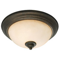 Golden Lighting Heartwood 2 Light Flush Mount in Burnt Sienna 8063-13-BUS