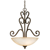 Heartwood 3 Light 22 inch Burnt Sienna Pendant Ceiling Light, Bowl