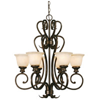 Golden Lighting 8063-6 BUS Heartwood 6 Light 27 inch Burnt Sienna Chandelier Ceiling Light