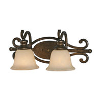 Heartwood 2 Light 21 inch Burnt Sienna Bath Vanity Wall Light