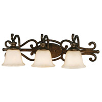 Golden Lighting Heartwood 3 Light Bath Vanity in Burnt Sienna 8063-BA3-BUS