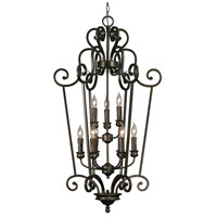 Heartwood 9 Light 24 inch Burnt Sienna Caged Foyer Ceiling Light, 2 Tier