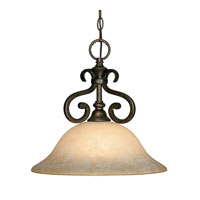 Golden Lighting Heartwood 1 Light Pendant in Burnt Sienna with Tea Stone Glass 8063-NK1-BUS alternative photo thumbnail