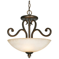 Heartwood 3 Light 18 inch Burnt Sienna Semi-Flush Ceiling Light, Convertible