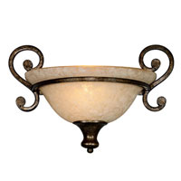 Golden Lighting Heartwood 1 Light Wall Sconce in Burnt Sienna with Tea Stone Glass 8063-WSC-BUS