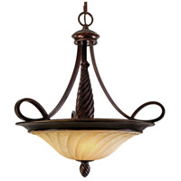 Golden Lighting 8106-3P-CDB Torbellino 3 Light 24 inch Cordoban Bronze Pendant Ceiling Light Bowl