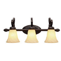 Golden Lighting Torbellino 3 Light Bath Vanity in Cordoban Bronze 8106-BA3-CDB