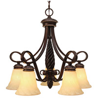 Golden Lighting 8106-D5 CDB Torbellino 5 Light 24 inch Cordoban Bronze Chandelier Ceiling Light