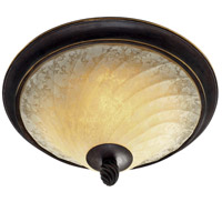 Golden Lighting Torbellino 2 Light Flush Mount in Cordoban Bronze 8106-FM-CDB