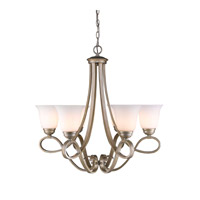 Torbellino 6 Light 27 inch White Gold Chandelier Ceiling Light
