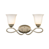 Golden Lighting Torbellino 2 Light Bath Vanity in White Gold 8107-BA2-WG