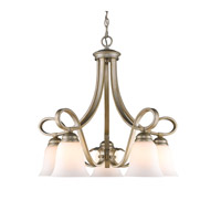 Torbellino 5 Light 25 inch White Gold Mini Chandelier Ceiling Light