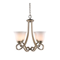 Torbellino 4 Light 22 inch White Gold Mini Chandelier Ceiling Light