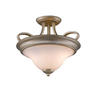 Torbellino 2 Light 16 inch White Gold Semi-Flush Ceiling Light, Convertible
