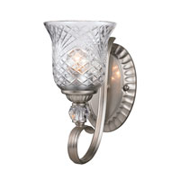 Golden Lighting Alston Place 1 Light Wall Sconce in Pewter with Iced Crystal Glass 8118-1W-PW alternative photo thumbnail