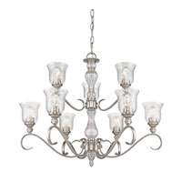 Golden Lighting Alston Place 9 Light Chandelier in Pewter with Iced Crystal Glass 8118-9-PW alternative photo thumbnail