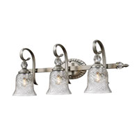Golden Lighting 8118-BA3-PW Alston Place 3 Light 27 inch Pewter Bath Vanity Wall Light in Iced Crystal Glass alternative photo thumbnail