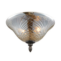 Golden Lighting Alston Place 2 Light Flush Mount in Burnt Sienna with Heirloom Crystal Glass 8118-FM-BUS