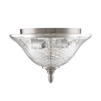 Golden Lighting Alston Place 2 Light Flush Mount in Pewter with Iced Crystal Glass 8118-FM-PW alternative photo thumbnail