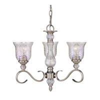 Golden Lighting Alston Place 3 Light Mini Chandelier in Pewter with Iced Crystal Glass 8118-M3-PW alternative photo thumbnail