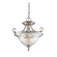 Golden Lighting 8118-SF-PW Alston Place 3 Light 17 inch Pewter Semi-Flush Ceiling Light in Iced Crystal Glass, Convertible  alternative photo thumbnail