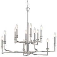 Ellyn 12 Light 33 inch Pewter Chandelier Ceiling Light