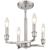 Ellyn 4 Light 13 inch Pewter Semi-Flush Ceiling Light