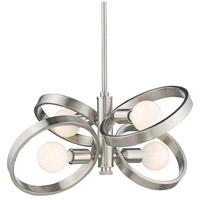 Golden Lighting 8330-4-PW Sloane 4 Light 21 inch Pewter Mini Chandelier Ceiling Light