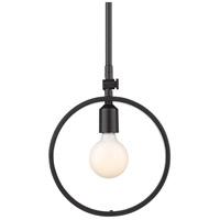 Golden Lighting 8330-M1L-BLK Sloane 1 Light 10 inch Black Mini Pendant Ceiling Light
